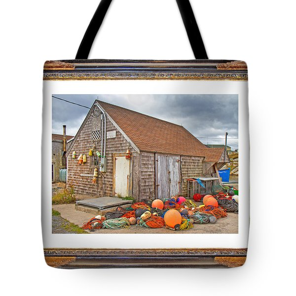 The Fishing Village Scene Tote Bag by Betsy Knapp