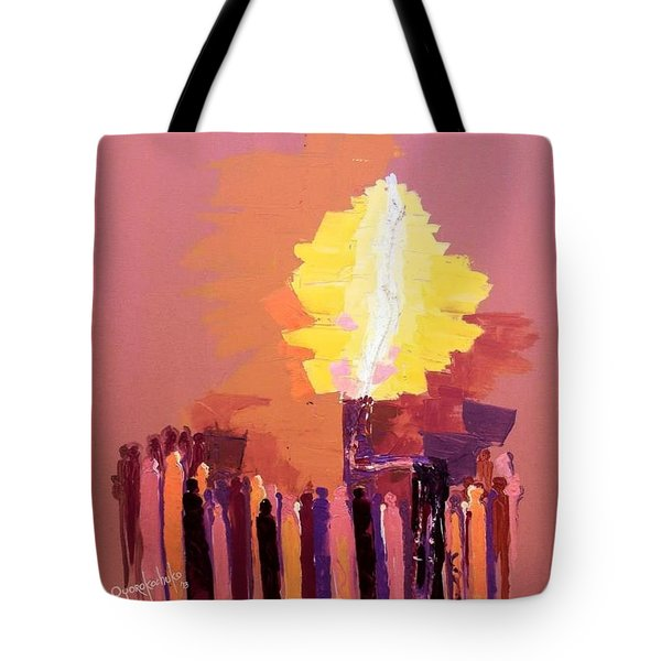 The Flare A Beacon Of Hope And Anguish Tote Bag