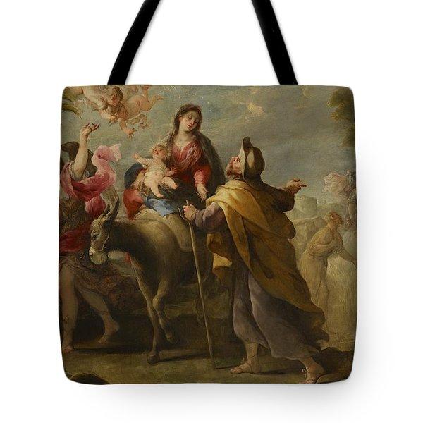 The Flight Into Egypt Tote Bag by Jose Moreno