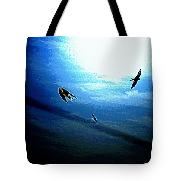 Tote Bag featuring the photograph The Flight by Miroslava Jurcik