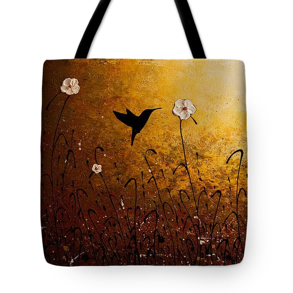 The Flight Of A Hummingbird Tote Bag