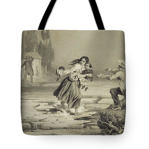 The Flight Of Eliza, Plate 3 From Uncle Tote Bag by Adolphe Jean-Baptiste Bayot
