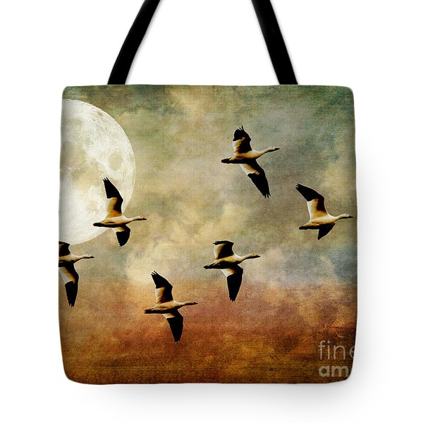The Flight Of The Snow Geese Tote Bag