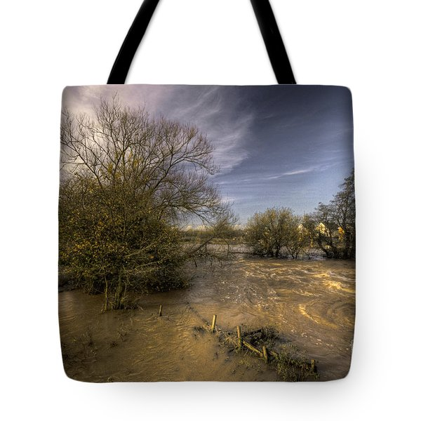 The Floods At Stoke Canon  Tote Bag by Rob Hawkins
