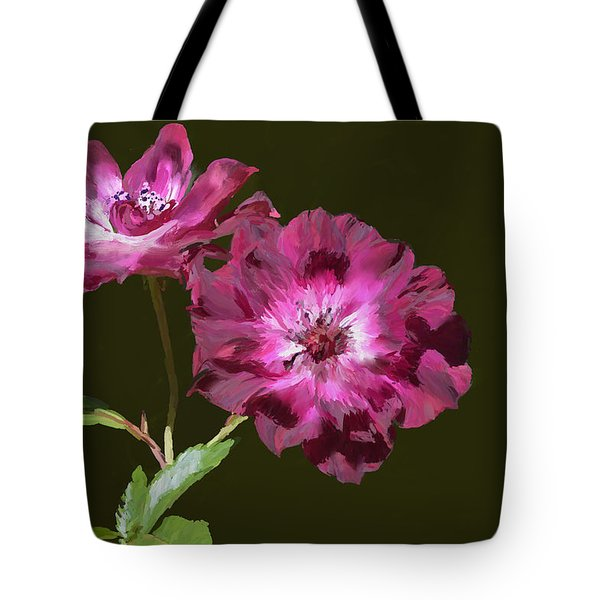 The Floral Duet Tote Bag