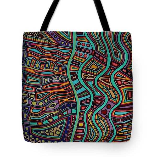 Tote Bag featuring the painting The Flow by Barbara St Jean