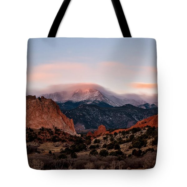 The Flow Over Pikes Peak Tote Bag