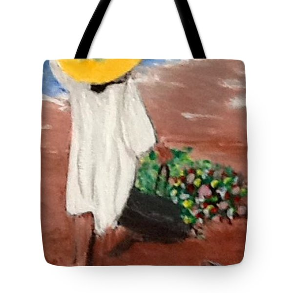 The Flower Girl Tote Bag