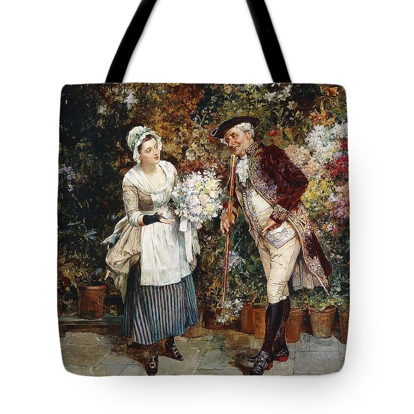 The Flower Girl Tote Bag by Henry Gillar Glindoni