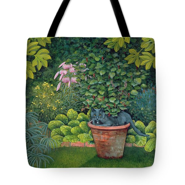 The Flower Pot Cat Tote Bag by Ditz