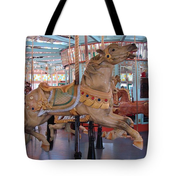 The Flying Horses Tote Bag by Margaret Bobb