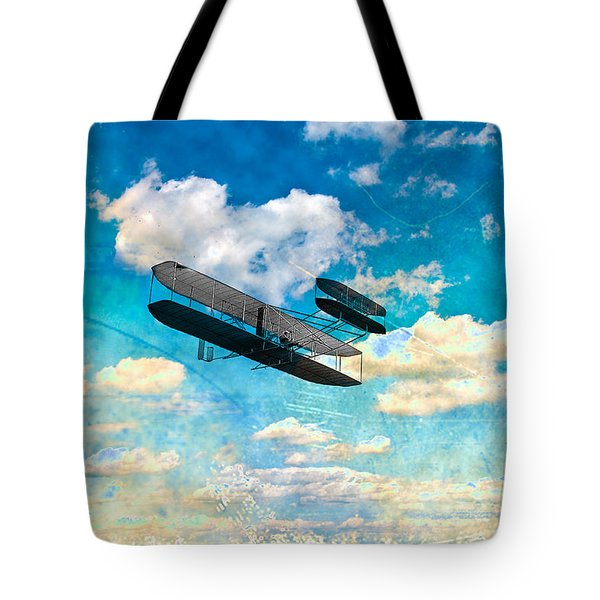 The Flying Machine Tote Bag by Bill Cannon