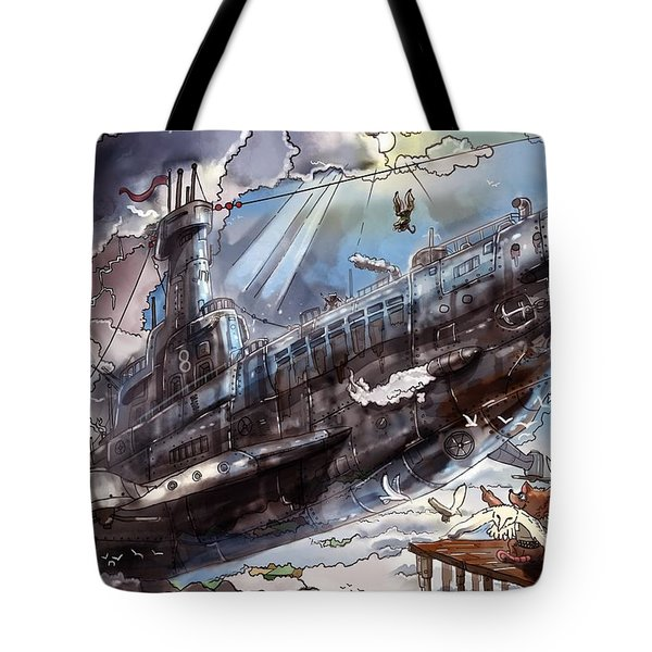 The Flying Submarine Tote Bag