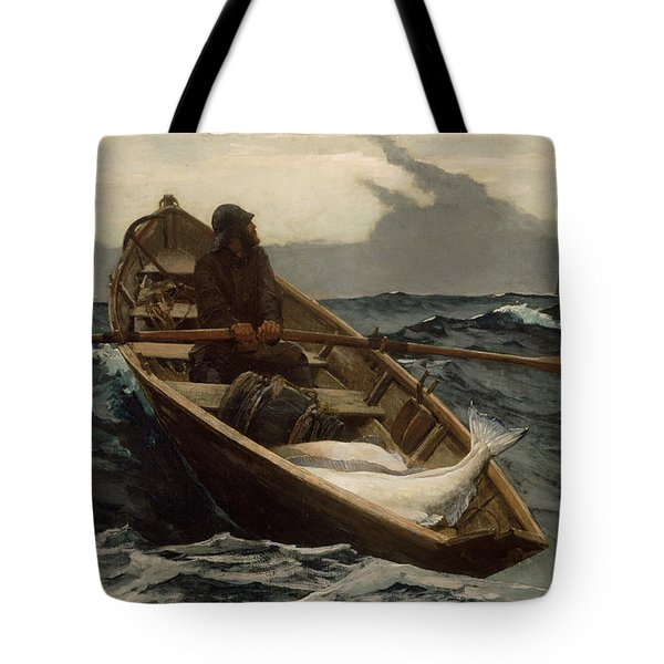 The Fog Warning .halibut Fishing Tote Bag