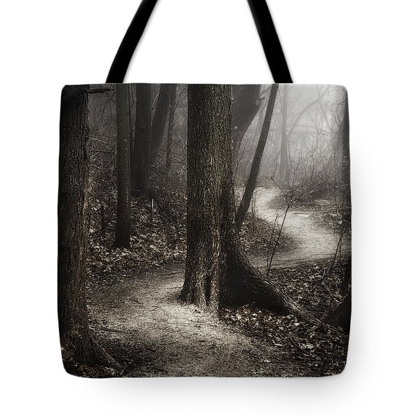 The Foggy Path Tote Bag