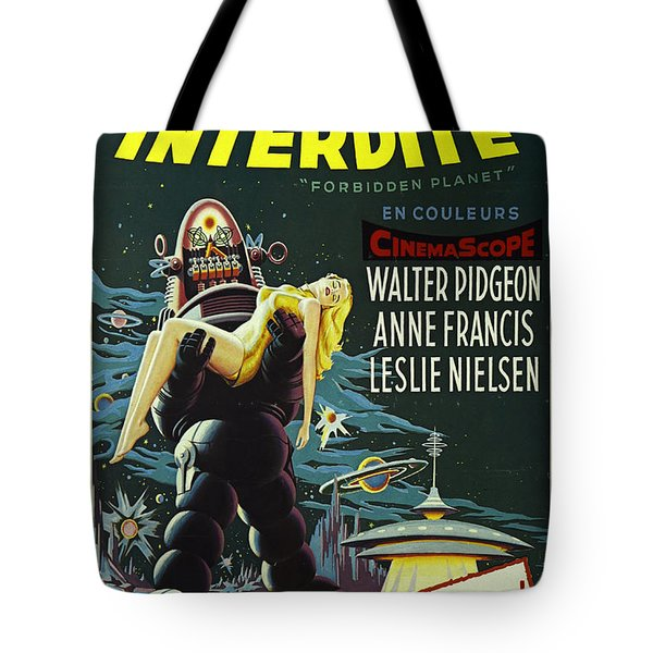 The Forbidden Planet Vintage Movie Poster Tote Bag by Bob Christopher