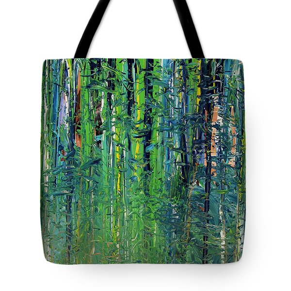 Tote Bag featuring the painting The Forest  by Lola Connelly
