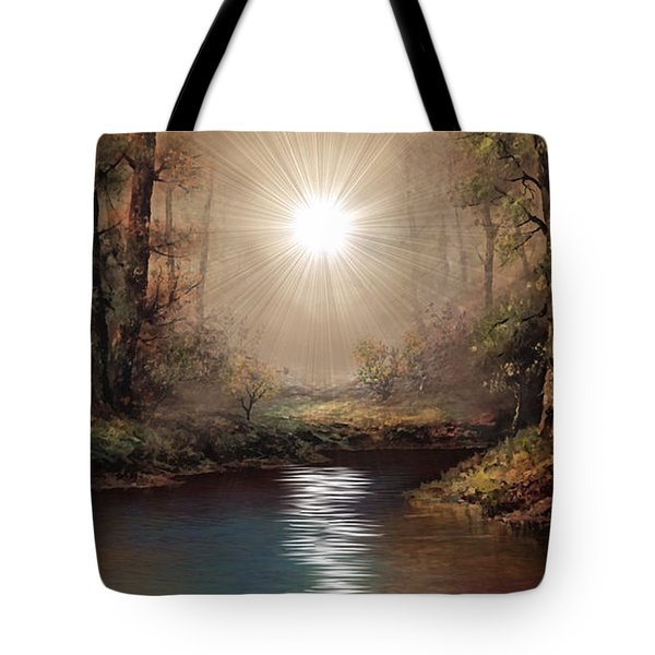 Sunrise Forest  Tote Bag