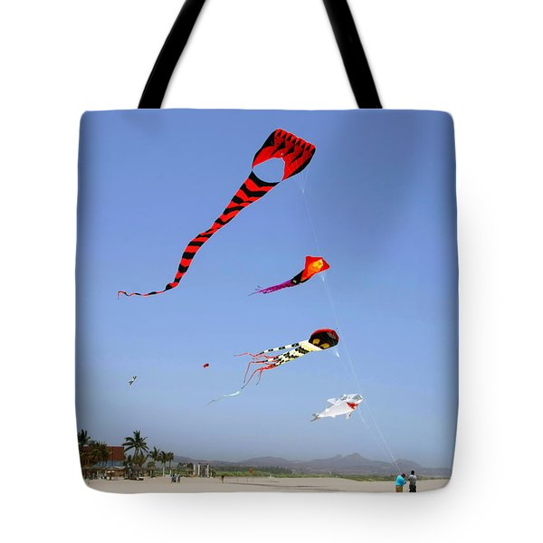 Tote Bag featuring the photograph The Forgotten Joy Of Soaring Kites by Christine Till