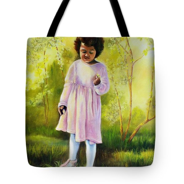 The Forsythia Tote Bag by Marlene Book
