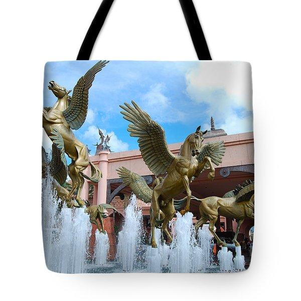 The Fountains At Atlantis Tote Bag
