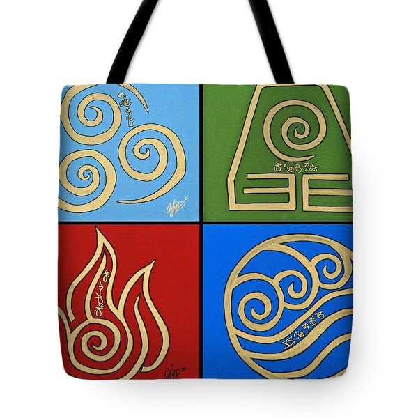 The Four Elements In Cy Lantyca Tote Bag