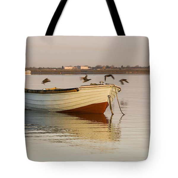 Tote Bag featuring the photograph The Four Flying Boatmen by Trevor Chriss