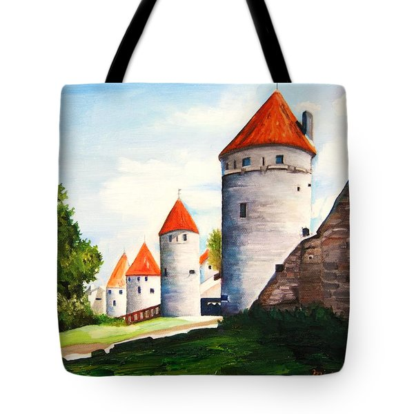 The Four Old Towers Estonia Tote Bag
