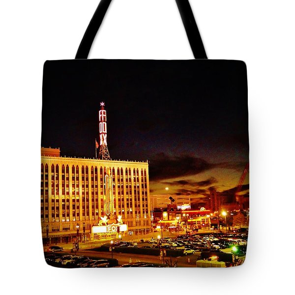 The Fox At Sunset Tote Bag