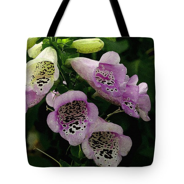 Tote Bag featuring the photograph The Foxglove by James C Thomas