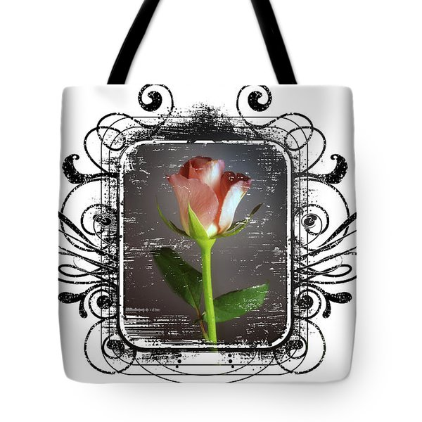 The Framed Rose Tote Bag by Mauro Celotti