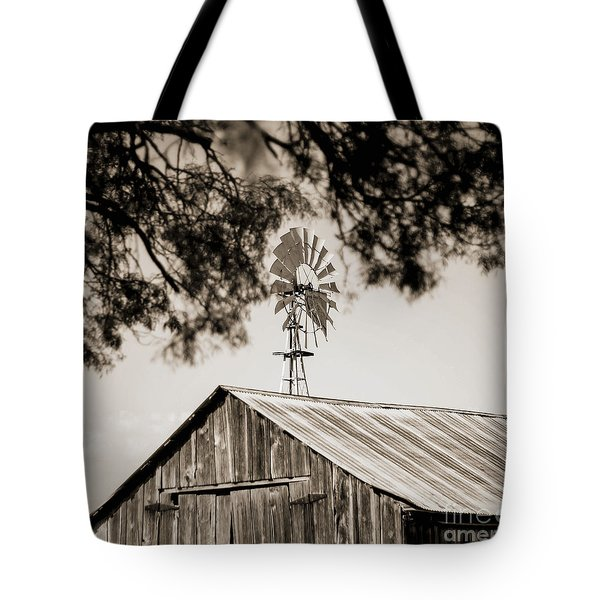 Tote Bag featuring the photograph The Framed Windmill by Amber Kresge