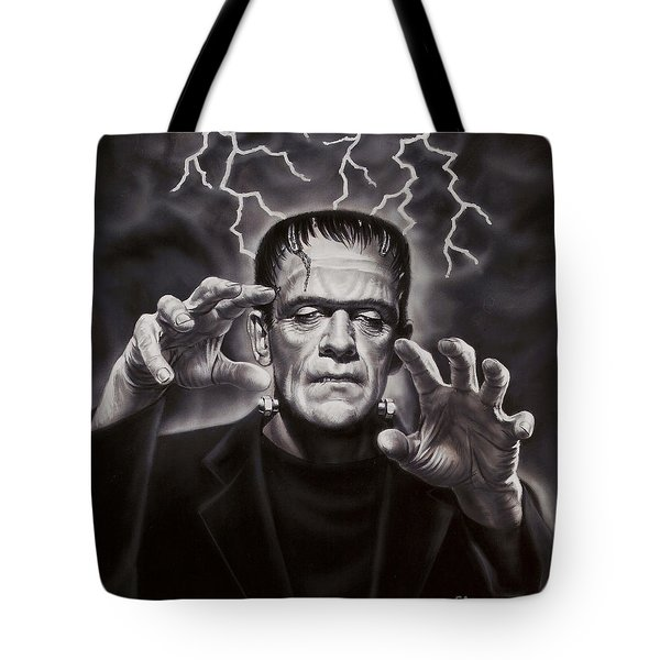 The Frankenstein Monster Tote Bag by Dick Bobnick