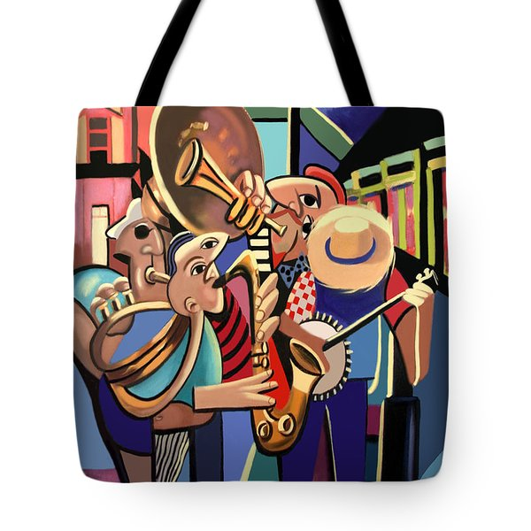Tote Bag featuring the painting The French Quarter by Anthony Falbo