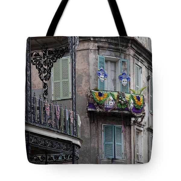 The French Quarter During Mardi Gras Tote Bag by Mountain Dreams