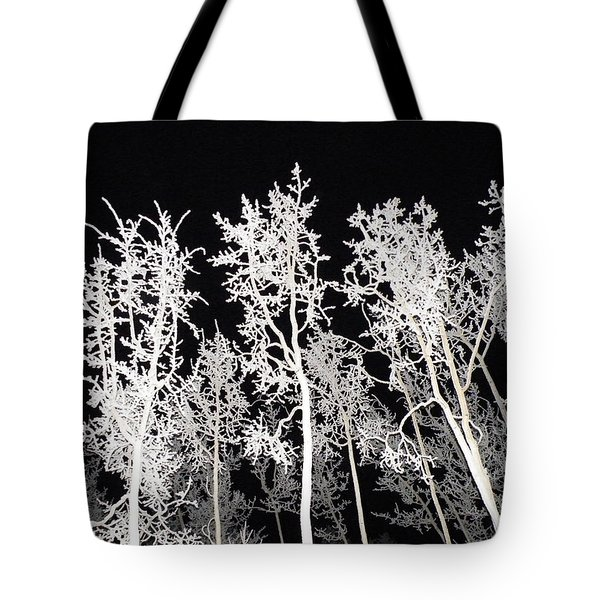 Tote Bag featuring the photograph The Frost Gleams By Night by Brian Boyle
