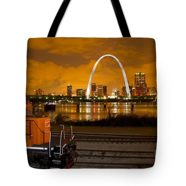 The Ftrl Railway With St Louis In The Background Tote Bag