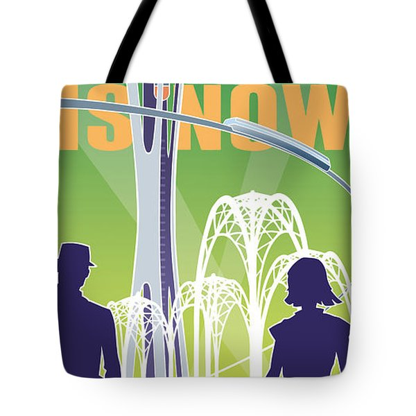 The Future Is Now - Green Tote Bag