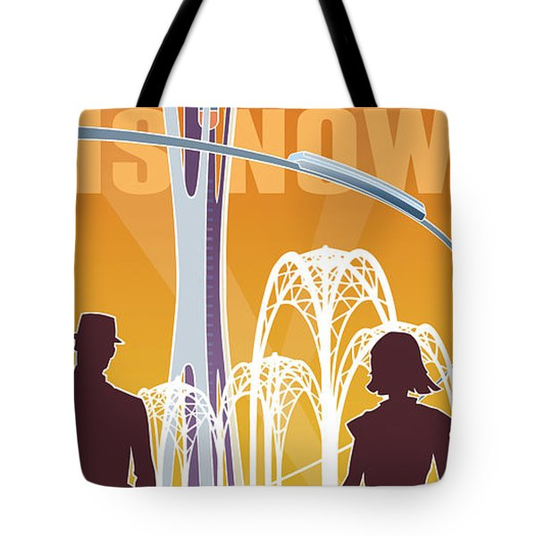 The Future Is Now - Orange Tote Bag