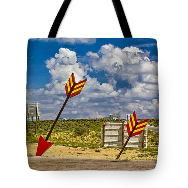 The Gallop Arrows Tote Bag by Gary Warnimont