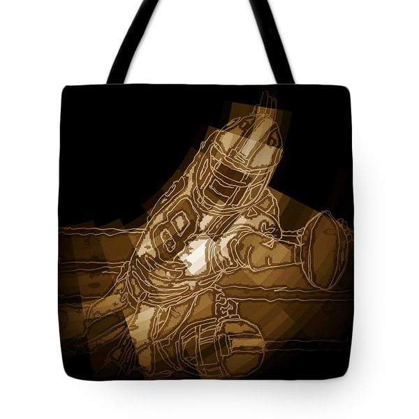 Tote Bag featuring the painting The Game 2 by Andrew Drozdowicz