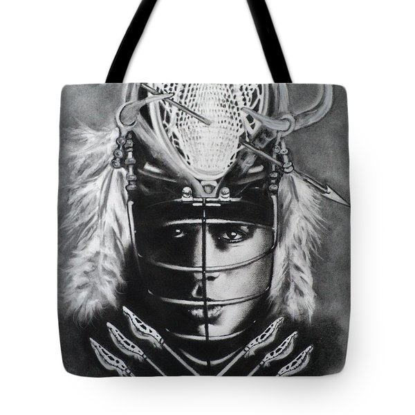 The Game Of Lacrosse  Tote Bag by Carla Carson
