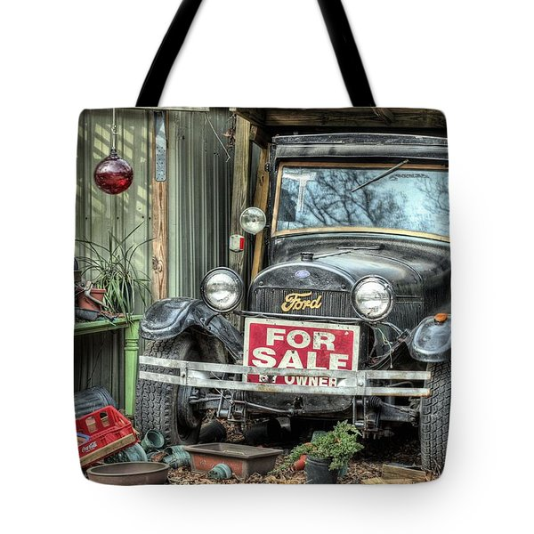 The Garage Sale Tote Bag by JC Findley