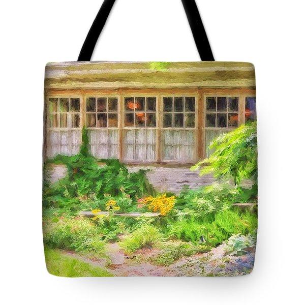 The Garden At Juniata Crossings Tote Bag by Lois Bryan