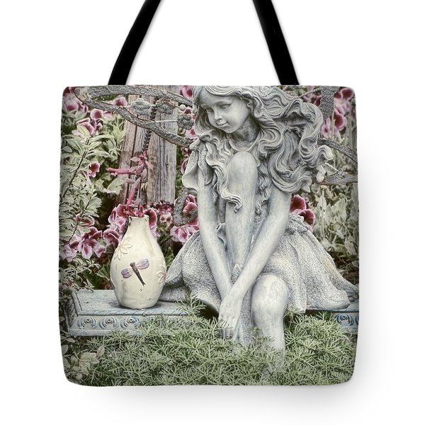 The Garden Fairy Tote Bag by Peggy Hughes