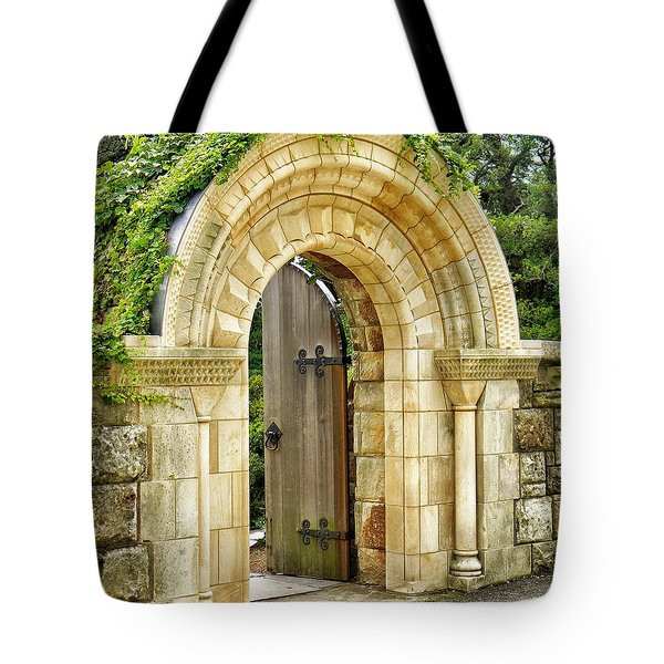 The Garden Gate Tote Bag by Jean Goodwin Brooks