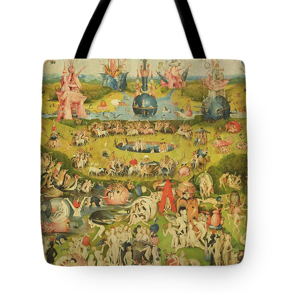 The Garden Of Earthly Delights Allegory Of Luxury, Central Panel Of Triptych, C.1500 Oil On Panel Tote Bag