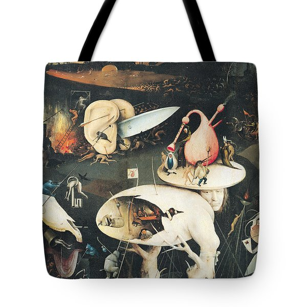 The Garden Of Earthly Delights Hell, Right Wing Of Triptych, C.1500 Oil On Panel See 322, 3425 Tote Bag
