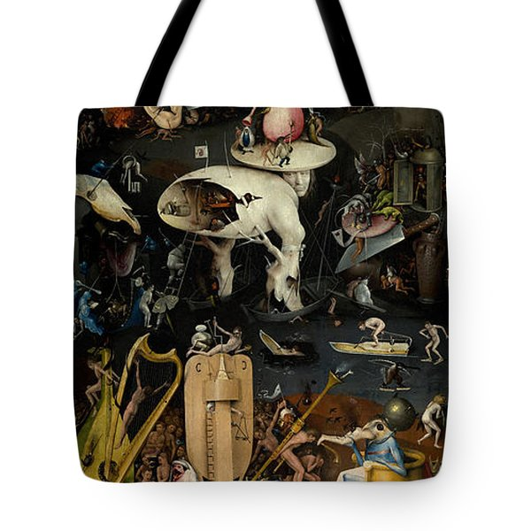 Tote Bag featuring the painting The Garden Of Earthly Delights. Right Panel by Hieronymus Bosch