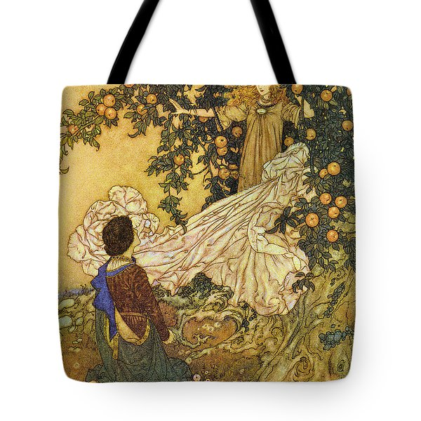 The Garden Of Paradise IIi Tote Bag by Edmund Dulac